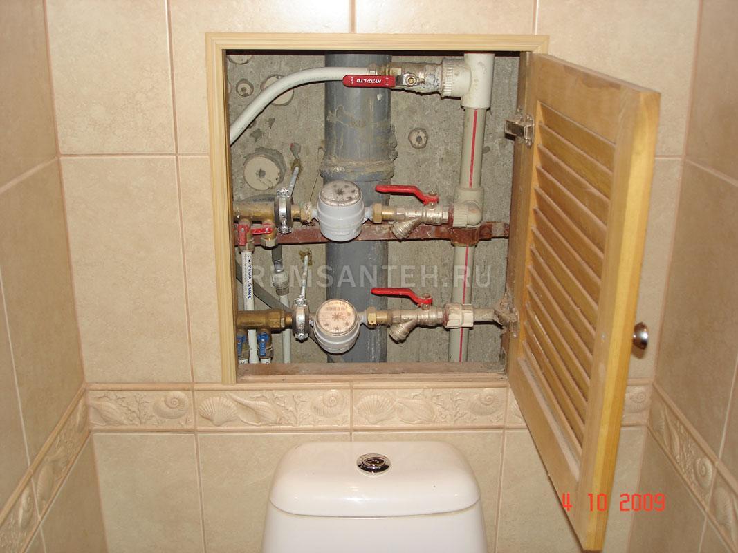 Как сделать дверцу в туалете для доступа к стояку своими руками 52