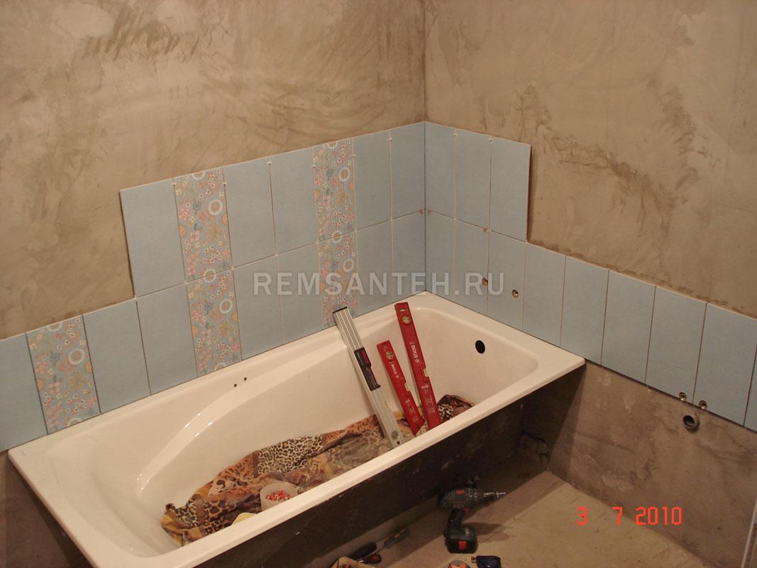 Отделка плиткой в ванной своими руками
