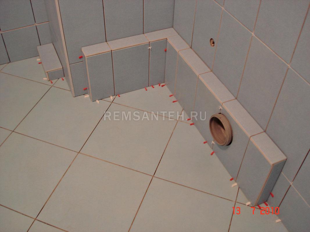 Перегородка из гипсокартона в туалете 61