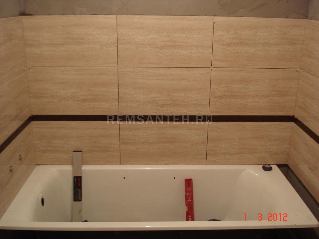 Как сделать край ванны у стены
