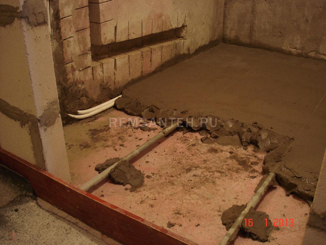 Как правильно сделать пол в ванной если полы деревянные 26